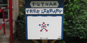 Need a book? Come to the Little Free Library at Putnam Elementary