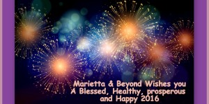 A Happy, Healthy & Blessed New Year to Marietta and Beyond Readers!