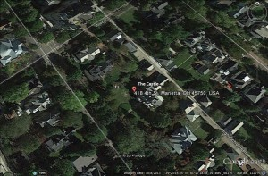 The Castle - via Google Earth (C) 2014, all rights reserved