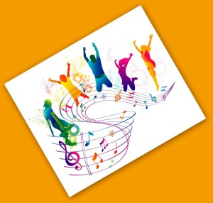 iStock_000021860481_Illustration Notes and People dancing
