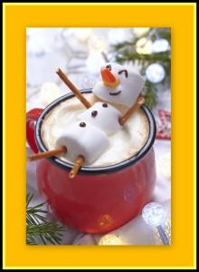 hot chocolate snowman