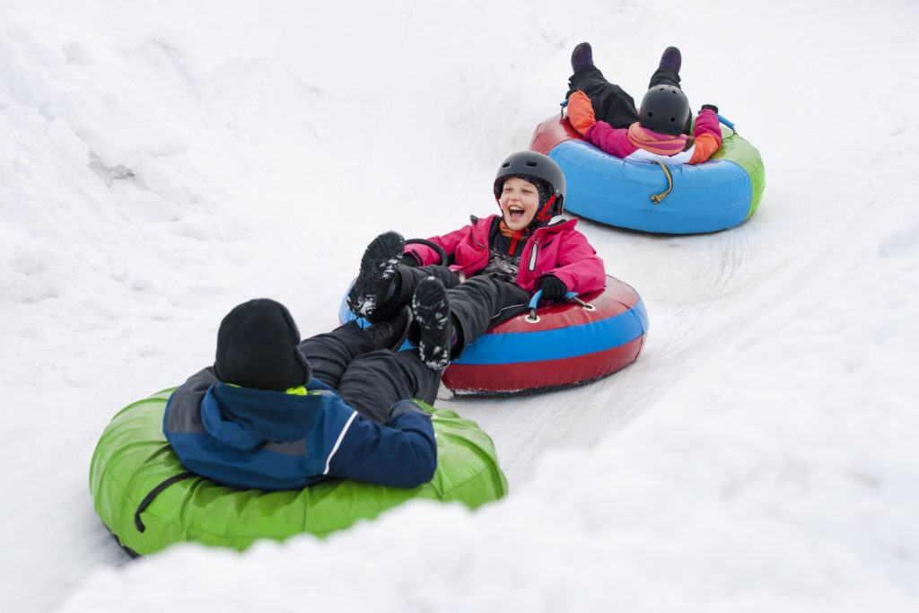 What to do on a snow day, snow day activities for children and adults, sliding, snowman, alternatives to sleds, build an igloo